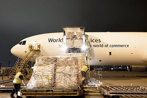 UPS Tracking - Cargo shipment in progress – Copyrights by UPS