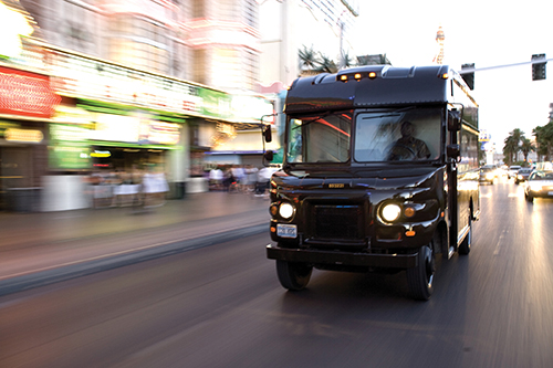 UPS Parcel Delivery Cargo in process – Copyrights by UPS