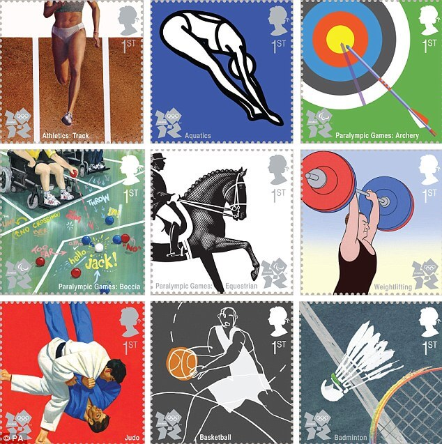 Royal Mail stamps olympics
