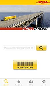 DHL ActiveTracing App - Copyrights by DHL