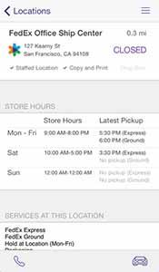 FedEx App – Copyrights by FedEx